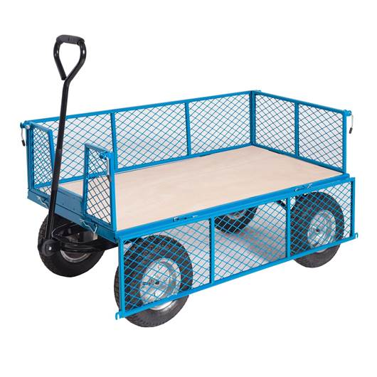 Picture of REACH Compliant General Purpose Trucks with Mesh Sides & Plywood Base