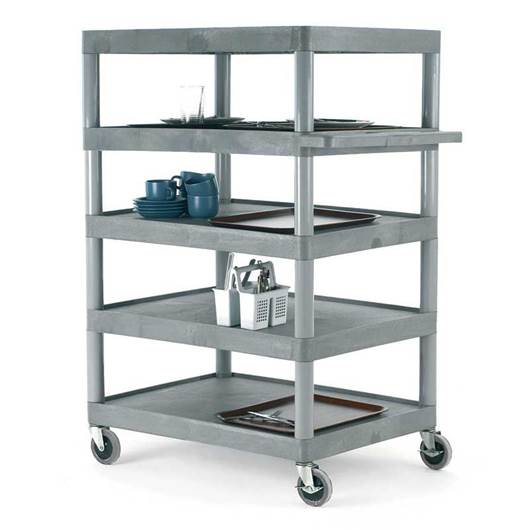 Picture of Large Grey 5 Shelf Trolley